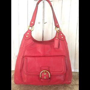 👛👜🎒COACH CAMPBELL RED HOBO SHOULDER BAG
